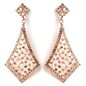 Elegance by Carbonneau Rose Gold Vintage Earrings