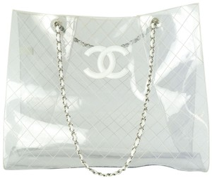 Chanel Xl Xxl Clear Tote in Transparent