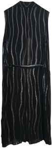 La Perla Shimmer Duster Jacket Throwover Dress Top Black, Silver