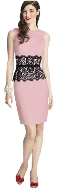 Item - Petal Pink / Black 5706 Short Cocktail Dress Size 10 (M)