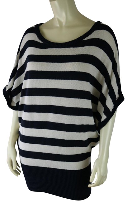 Item - XS Anthropologie Oversized Striped Navy Cream Sweater