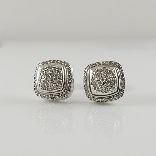 David Yurman David Yurman Sterling Silver 11mm Diamond Albion Clip-On Earrings Image 1