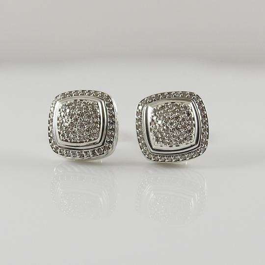 David Yurman David Yurman Sterling Silver 11mm Diamond Albion Clip-On Earrings Image 2