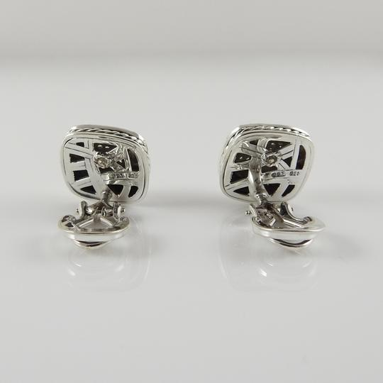 David Yurman David Yurman Sterling Silver 11mm Diamond Albion Clip-On Earrings Image 3