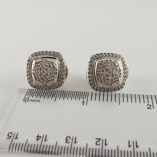 David Yurman David Yurman Sterling Silver 11mm Diamond Albion Clip-On Earrings Image 9