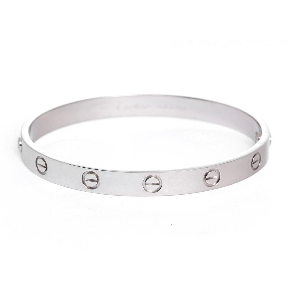 f160809eb96908 Cartier LOVE BRACELET WHITE GOLD Image 0 ...