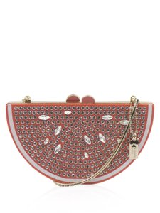 Kate Spade Grapefruit Slice Clutch Crystal Accents Cross Body Bag
