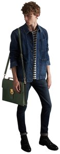 Burberry Satchel in Forest Green