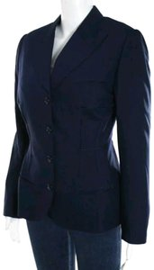 Richard Tyler Wool Pockets Jacket Pockets Blue Blazer