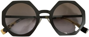 Fendi Fendi Facets FF 0152/S Brown Geometric Round Sunglasses