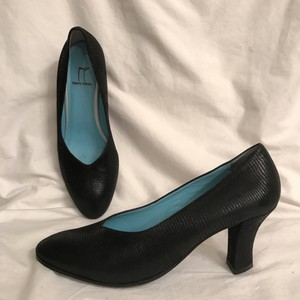 Thierry Rabotin Leather Suede Lizard Formal Comfortable Black Pumps
