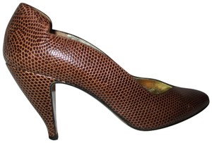 Walter Steiger Leather Reptile brown Pumps