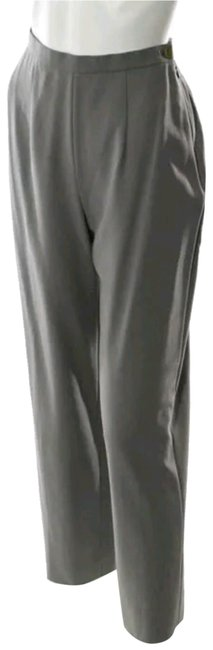 Item - Khaki Gray Wool Pleated Loose Fit High Rise Trousers Pants Size 16 (XL, Plus 0x)