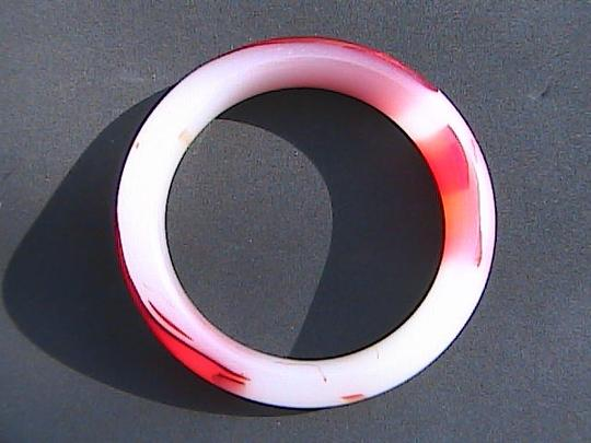 Vintage Multi color Jade Bangle size 8-9