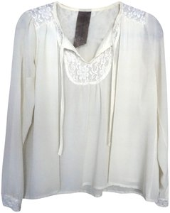 Moon Collection Nasty Gal Lace Top Off White