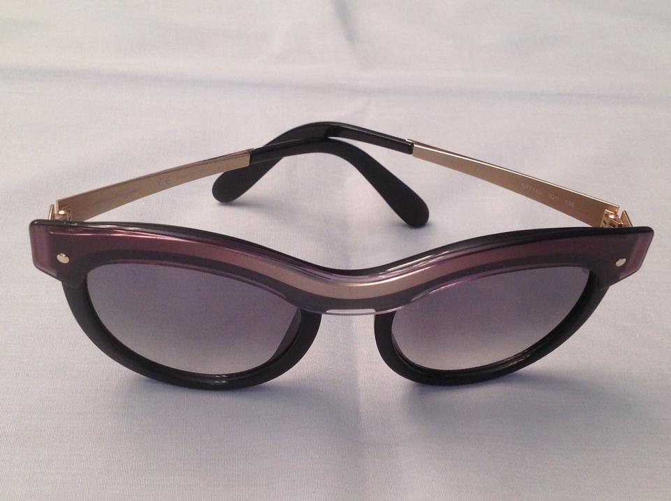b50840b910 Salvatore Ferragamo Salvatore Ferragamo SF774S 020 Black Sunglasses NEW!  Image 8. 123456789