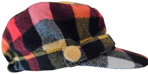 David & Young Plaid Flannel Military Style Cap