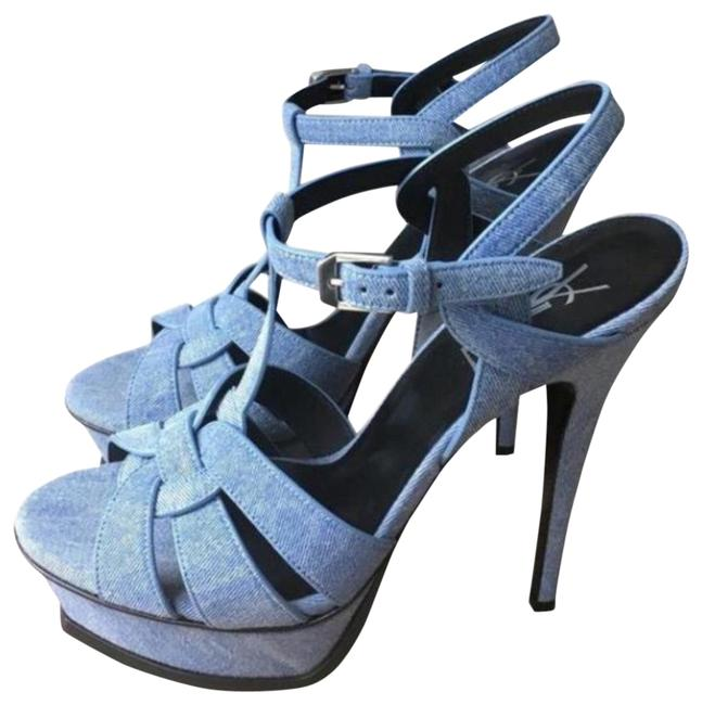 Item - Blue New 75mm Sandals Size EU 36 (Approx. US 6) Regular (M, B)