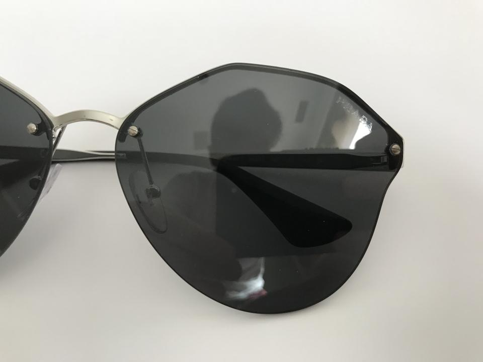 c7c71700b2f0d Prada Black Silver Cinema Evolution Spr 64t Metal Sunglasses 62% off retail