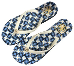 Tory Burch New Spring New Summer Ivory New New Tag New W Box blue Sandals