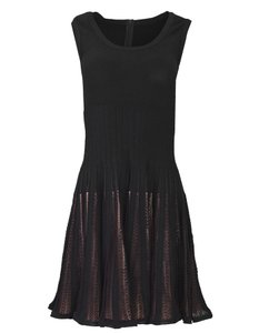 ALAÏA Fit And Flare Sleeveless Mesh Dress