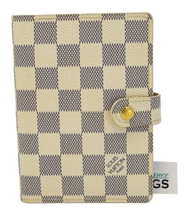 Louis Vuitton Louis Vuitton Damier Azur Agenda PM Day Planner Cover