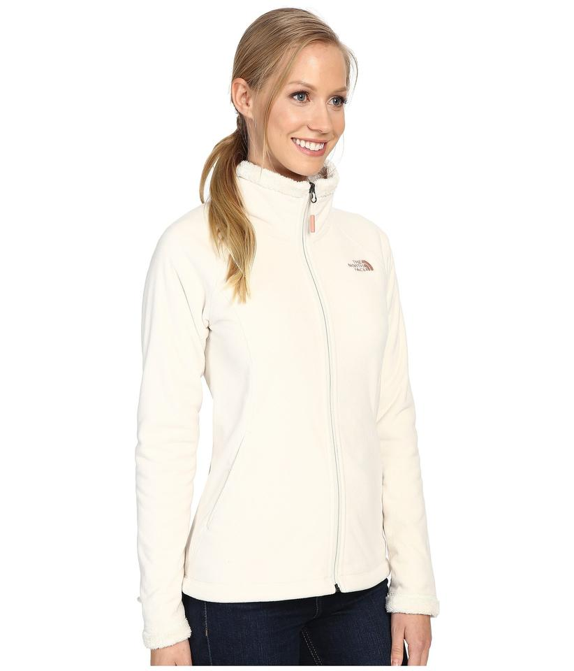 bceef2fe6 The North Face Vintage White Agave Full Zip Heathered Jacket Size 12 (L)