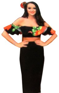 Hot Miami Styles Maxi Skirt black and red