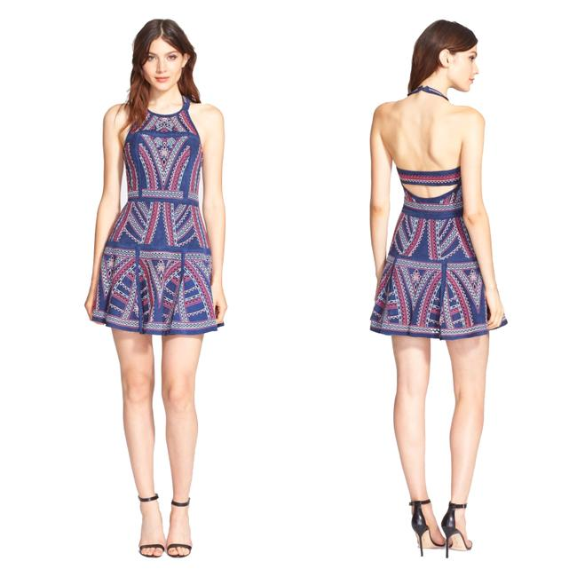 Preload https://img-static.tradesy.com/item/23047314/parker-blue-leona-embroidered-fit-and-flare-cutout-open-back-halter-s-short-night-out-dress-size-4-s-0-0-650-650.jpg