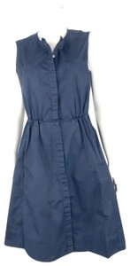 Theory short dress Blue Cotton Indigo Button Down Denim Fit And Flare on Tradesy