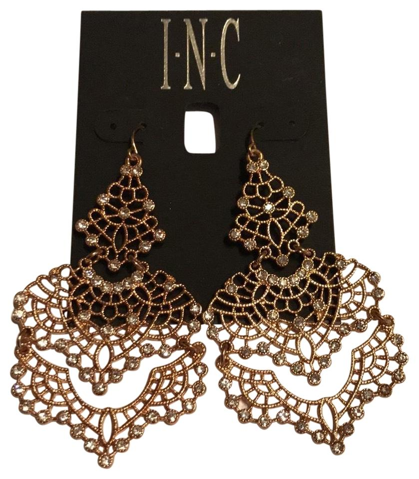 Inc international concepts rose gold plated inc crystal lace inc international concepts inc crystal lace chandelier earrings arubaitofo Image collections