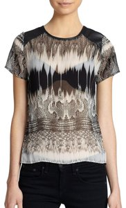 Generation Love Sheer Mesh Print Top