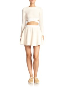 Elizabeth and James Mini Skirt Ivory