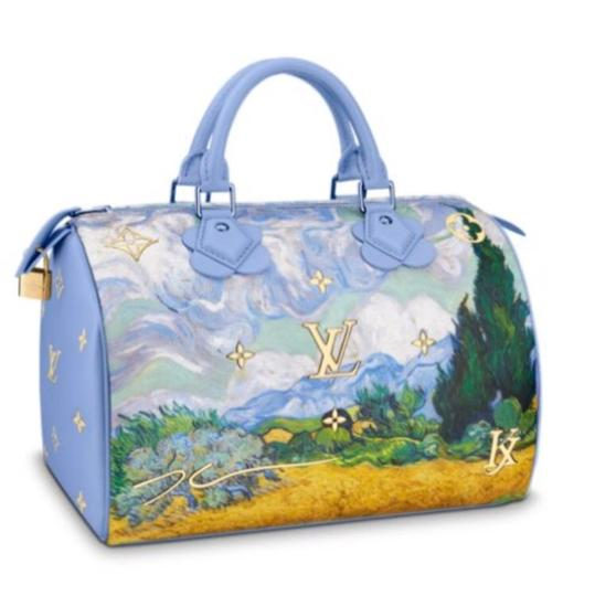 Preload https://img-static.tradesy.com/item/23047855/louis-vuitton-speedy-limited-edition-van-gogh-in-masters-by-jeff-koons-soft-blue-leather-tote-0-0-540-540.jpg