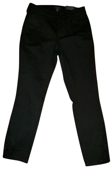 Item - Black Dark Rinse Amira Fitted Ankle Straight Leg Jeans Size 26 (2, XS)
