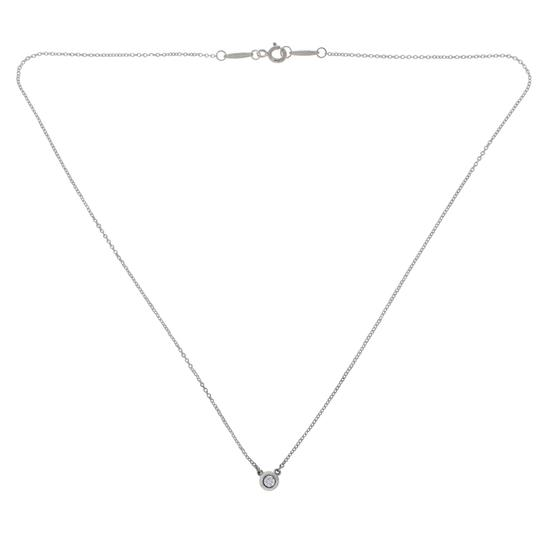 Tiffany & Co. Tiffany & Co. 925 Silver Elsa Peretti Single Diamonds Necklace Image 1