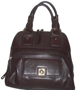 Banana Republic Leather Satchel in Brown