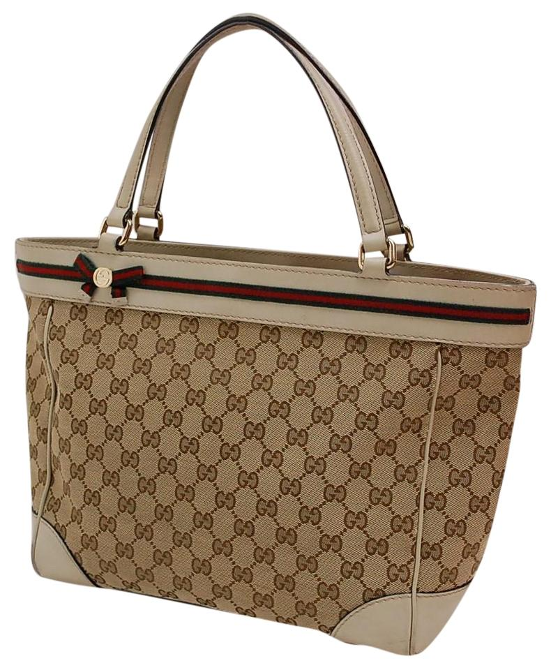 8fabf832443 Gucci Satchel Tote Style Great Everyday Mayfair Line Excellent Condition  Shelly Tote in brown large ...