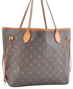 Louis Vuitton Neverfull Mm Monogram Tote in Brown
