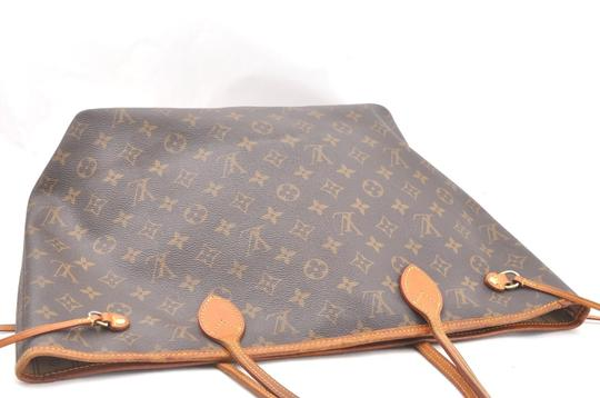 Louis Vuitton Neverfull Mm Monogram Tote in Brown Image 3