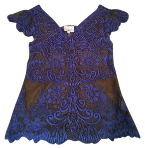 Anthropologie Top Blue/Black