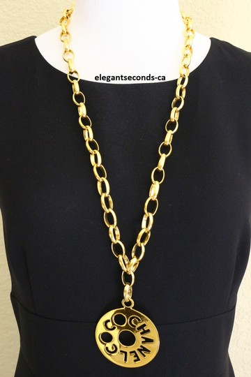 Chanel SALE~~~RARE AUTH. Vintage Chanel large CC COCO Pendant Chunky Chain