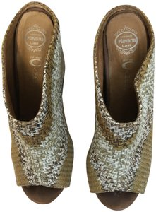 Jeffrey Campbell Mules Tans Wedges