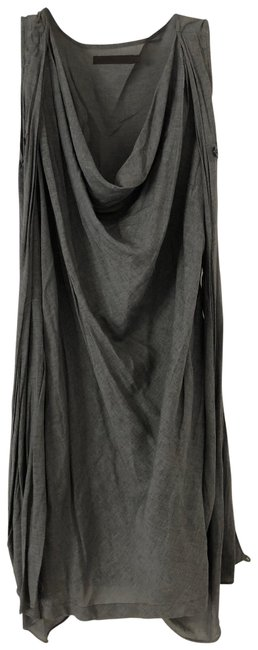 Item - Gray 3-way Linen Downtown Mid-length Short Casual Dress Size 2 (XS)