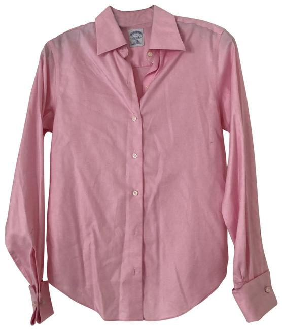 Item - Pink Fitted Non-iron Shirt Button-down Top Size 2 (XS)