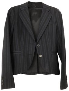 Theory Pinstripe navy Theory suit set - with jacket, pants, and skirt