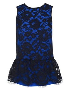 Tibi Top Cobalt Blue, Black