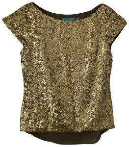 Alice + Olivia Top Gold