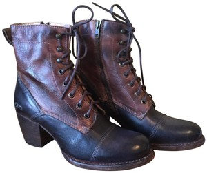 Bed|Stü Leather Lace-up Rich Colors Black and Brown Boots