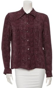 Céline Button Down Shirt Purple